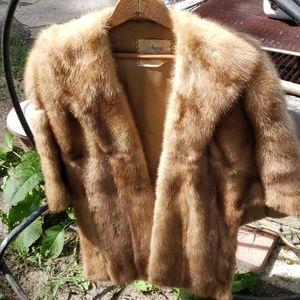 Macy's little shop fur shawl **VINTAGE**